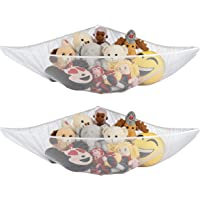 Ziz Home Stuffed Animal Toy Storage Hammock, 2 Pack, Nursery and Playroom Jumbo Net Organizer for Plush Toys, Kids…
