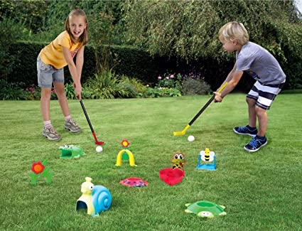Party Hurray Children Golf Set, w/Golf Clubs, Practice Holes, Floral/Animal Obstacles, Golf Balls