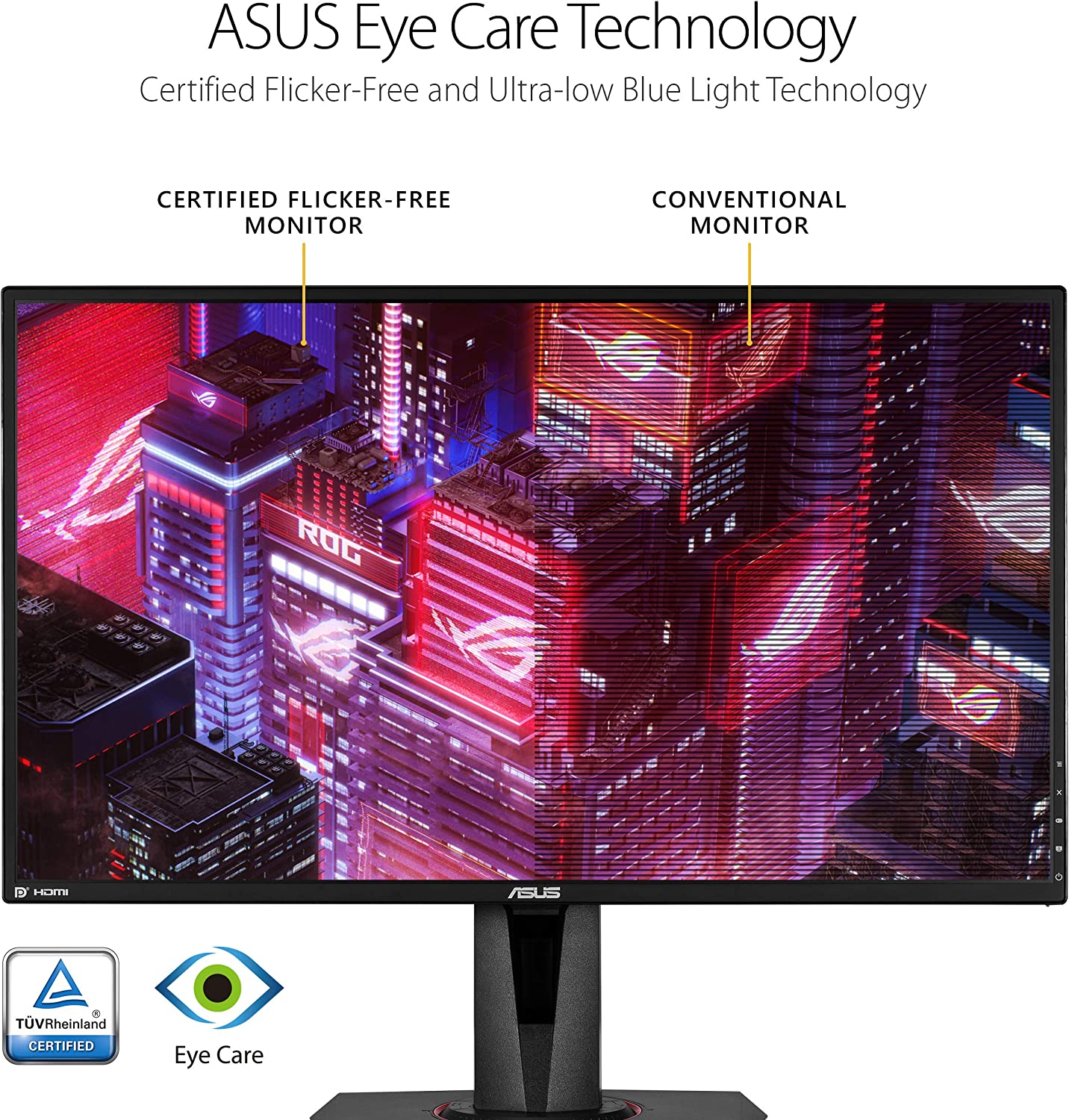 Amazon Com Asus Tuf Gaming Vg27aq 27 Monitor 1440p Wqhd 2560 X 1440 Ips 165hz Supports 144hz G Sync Compatible 1ms Extreme Low Motion Blur Sync Eye Care Displayport Hdmi Black Computers Accessories