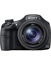 Sony DSC-HX350 Digital Compact Bridge Camera with 50x Optical Zoom - Black