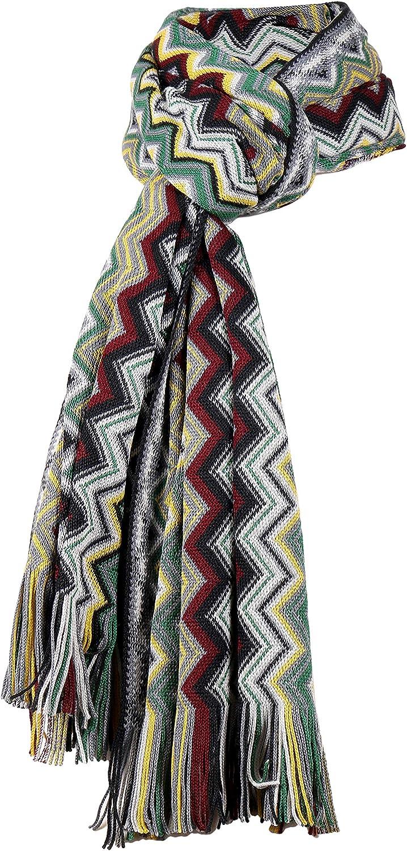 Missoni Soft Pastels Long Mix Zigzag Pattern Scarf