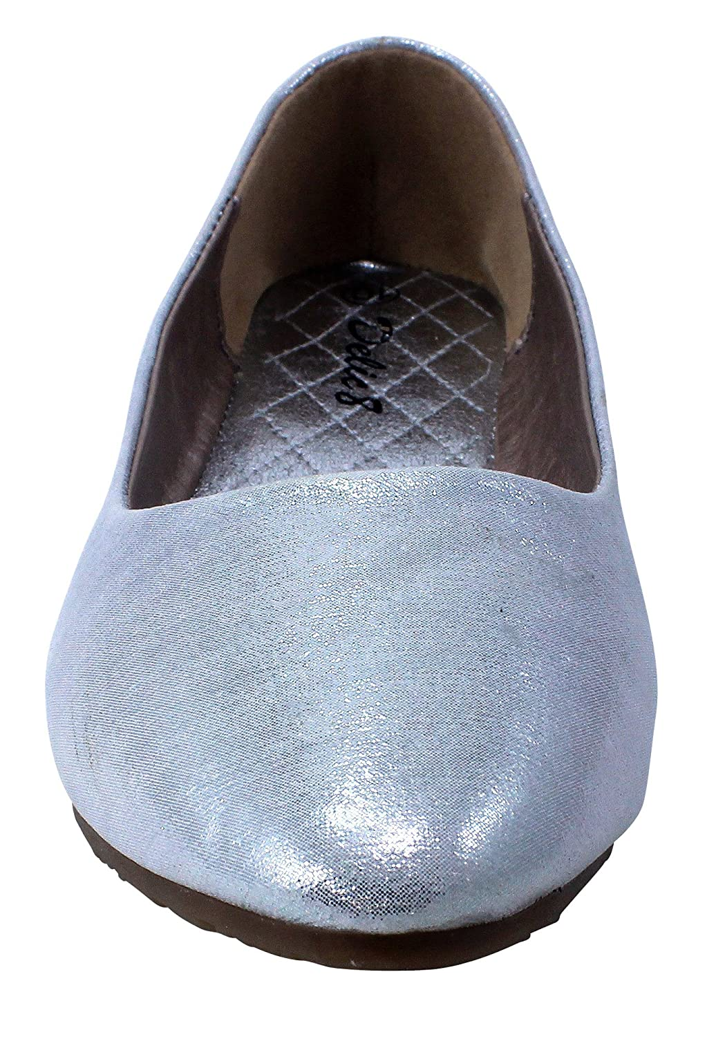 Enimay Womens Ballet Flats Leather Slip On Shoes Comfortable Light Footwear