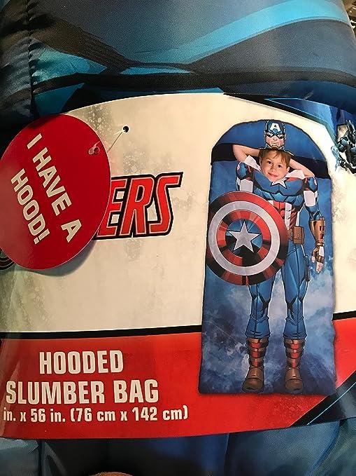 Capitán América con capucha bolsa de dormir