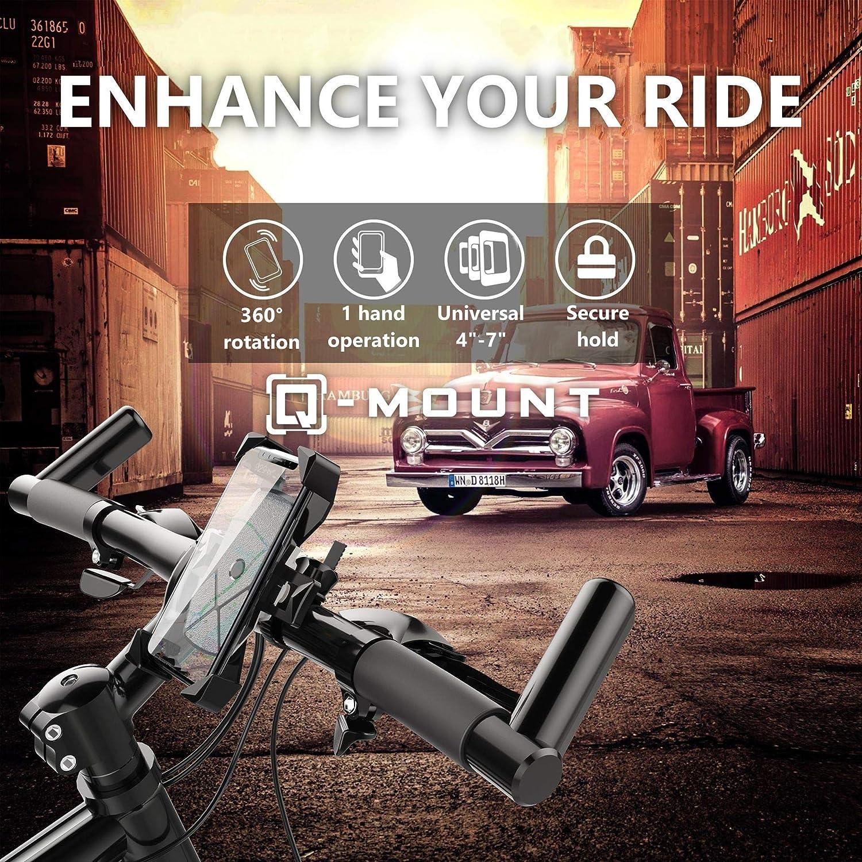 VTT Q-Mount Support de t/él/éphone Universel pour v/élo de Route Dirt Bike et Moto Fixation sur Guidon pour iPhone 4 /à XS Max
