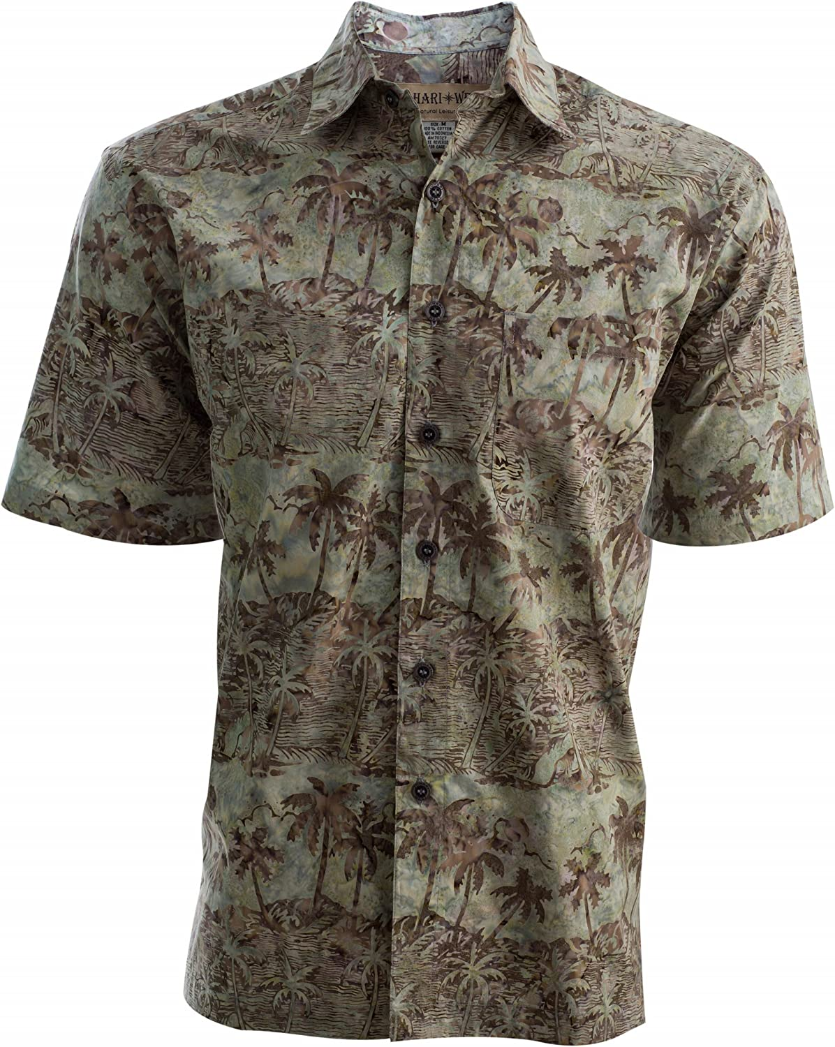 Johari West Coastal Dusk Mens Cotton Batik Shirt