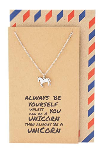 Amazon quan jewelry magical graduation gifts for women unicorn quan jewelry magical graduation gifts for women unicorn pendant necklace on inspirational quote card solutioingenieria Images