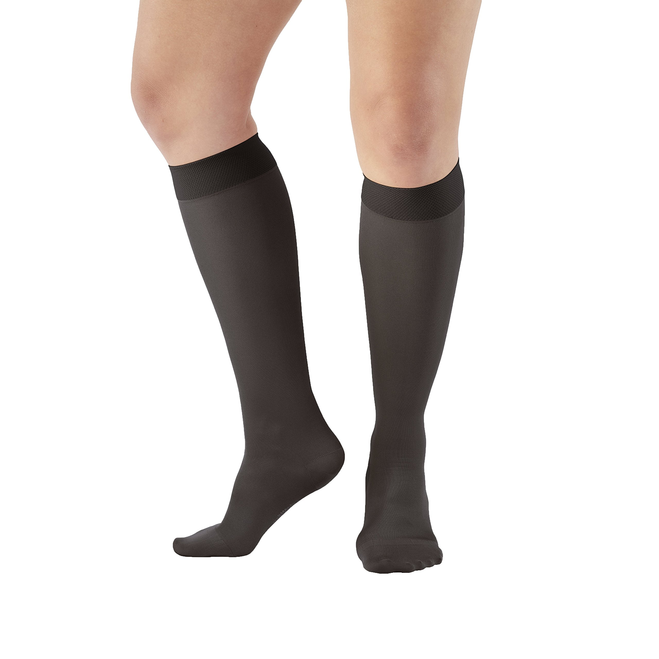 Ames Walker Unisex AW Style 209 Microfiber Opaque Closed Toe Compression Knee
