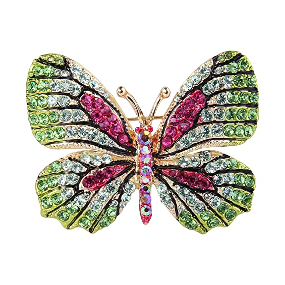 TENYE Women's Austrian Crystal Party Elegant Butterfly Insect Animal Brooch bQIzs