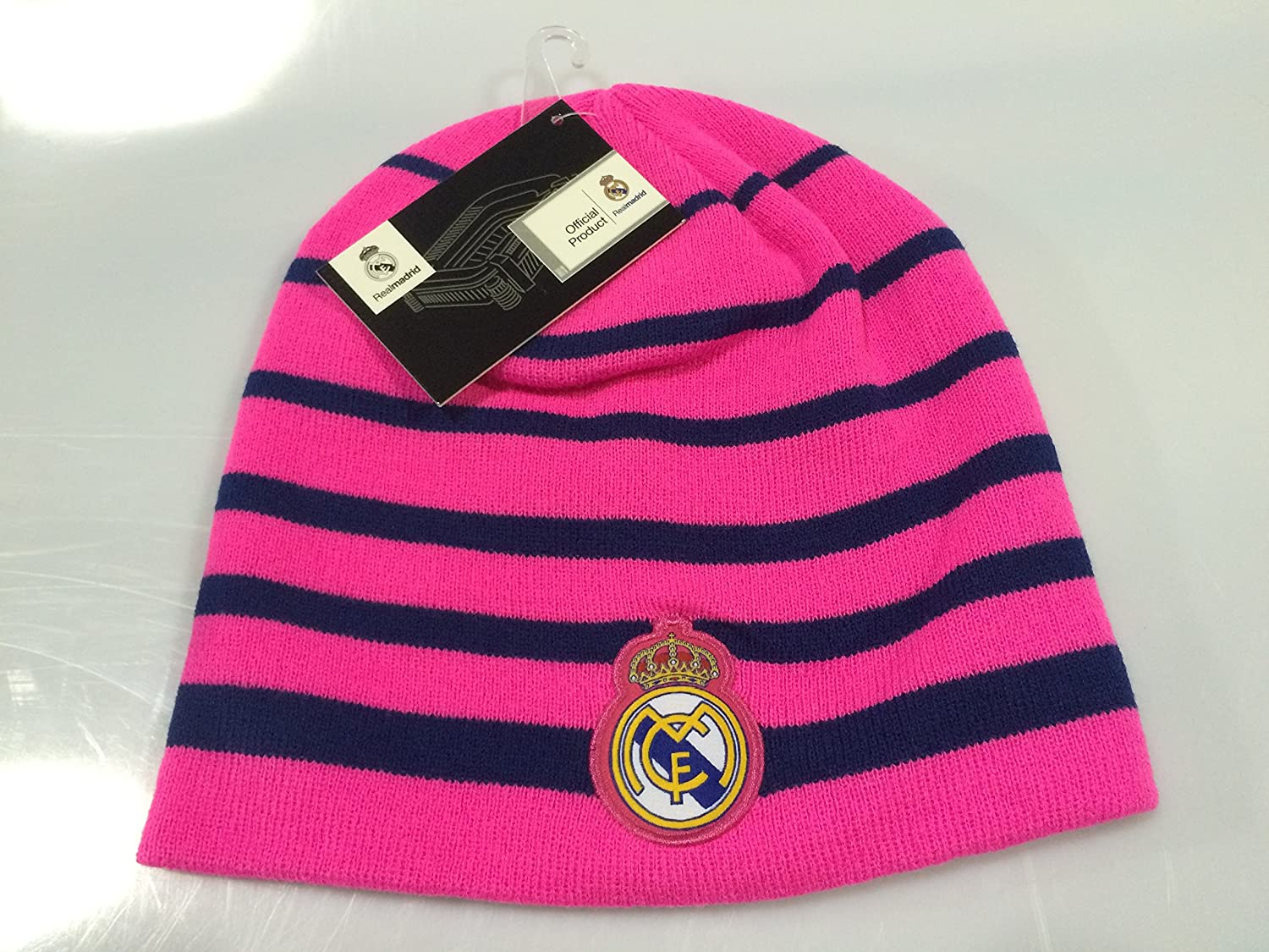 Amazon.com : Real Madrid FC Pink Winter Beanie (OSFM) : Sports & Outdoors