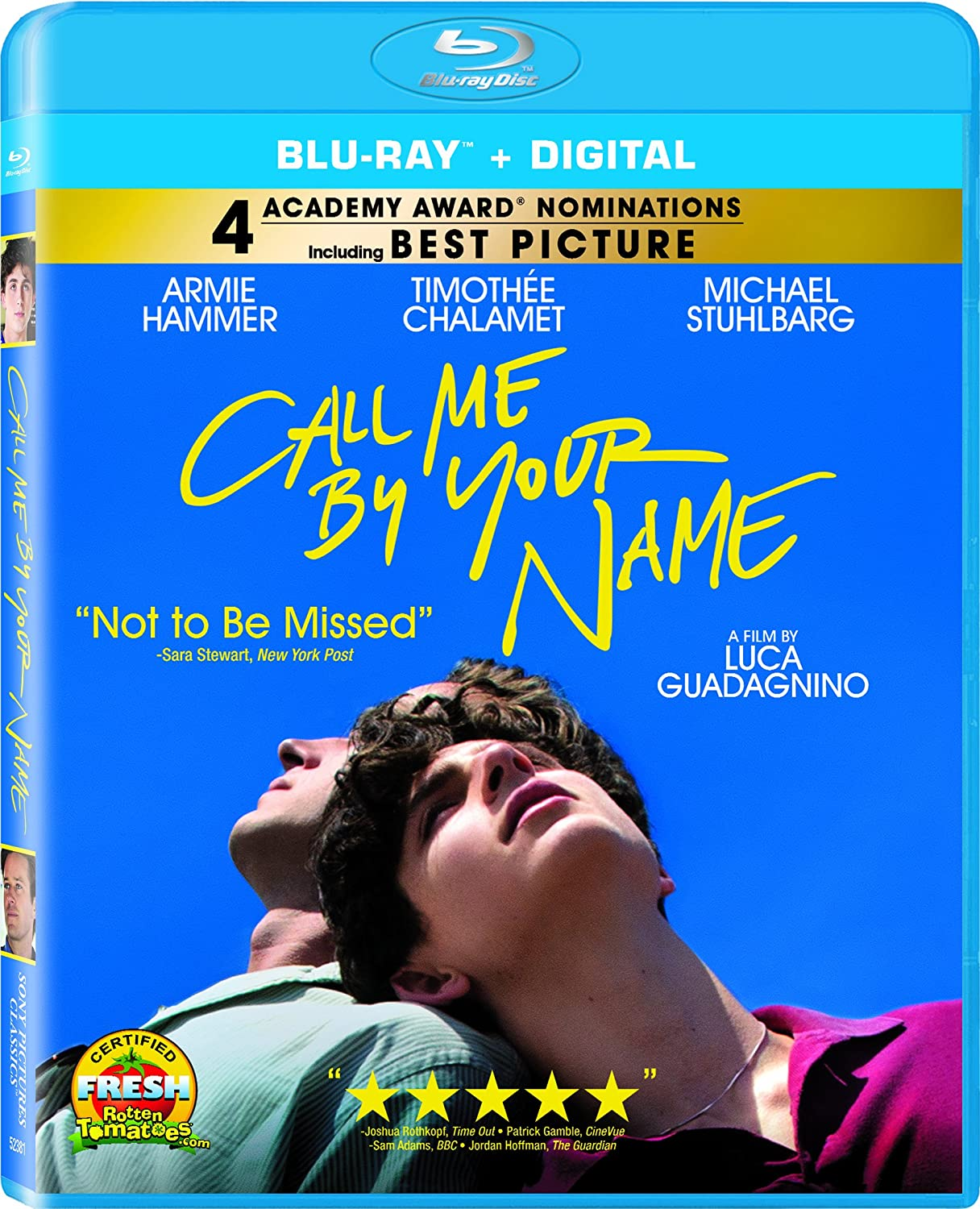 Amazon.com: Call Me by Your Name [Blu-ray]: Armie Hammer, Michael  Stuhlbarg, Amira Casar, Esther Garrel, Timothée Chalamet, Luca Guadagnino,  La Cinéfacture: ...