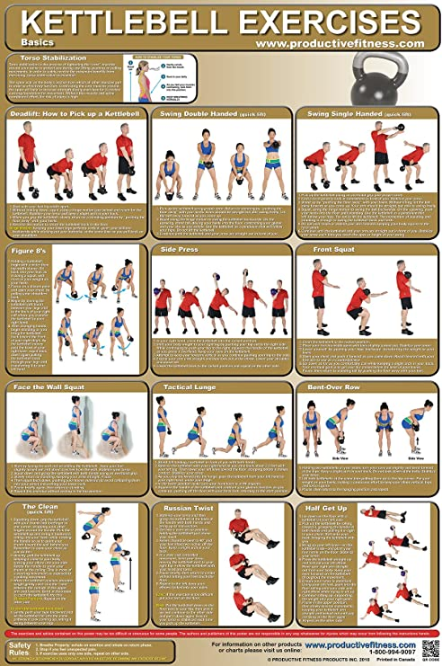 It is a photo of Printable Kettlebell Workout with kettlebell exercise