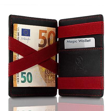 West Magic Wallet con Monedero (Negro-Rojo) - El Mini ...