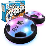 LLMoose Hover Soccer Ball Set of 2, Hover Ball with LED Lights and Soft Foam Bumpers to Protect Furniture, Kids Toys for 2-16