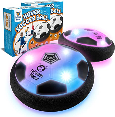 Hover Soccer Ball with LED Lights and Soft Foam Bumpers