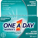 海外直邮品one-a-day womens active metabolism, 50 tabs by one-a-day