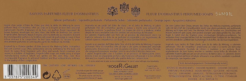 Roger Gallet Fleur d Osmanthus Perfumed Soap for Women, 3.5 Ounce