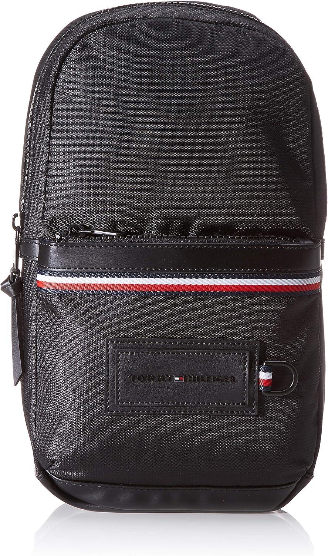 Tommy Hilfiger - Modern Nylon Slingpack, Shoppers y bolsos de hombro Hombre, Negro (Black), 8x36x20 cm (W x H L)