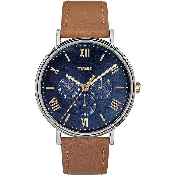 b54c8880bdfb Timex Southview - Reloj multifunción con correa de cuero