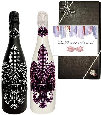 100 Bling Pärchen Geschenkset Exklusiver Sekt Cuvée Rose Für Paare Luxus Geschenk Hochzeit Umzug Liebende Hochzeitstag Geschenkkarte 2 Flaschen