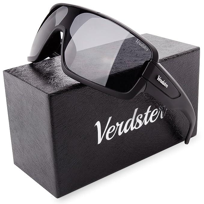 cfcdb70065 Verdster Gafas De Sol Grandes Hombres - Aptos para Conducir - Montura  Envolvente Cómoda con Protección