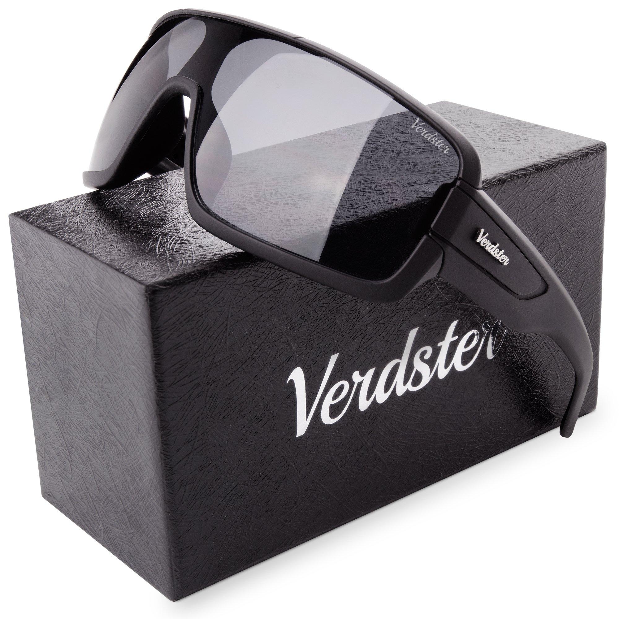 Verdster Casual Trendy Sunglasses Men Women, Accessories Case, Black Terminator Shades