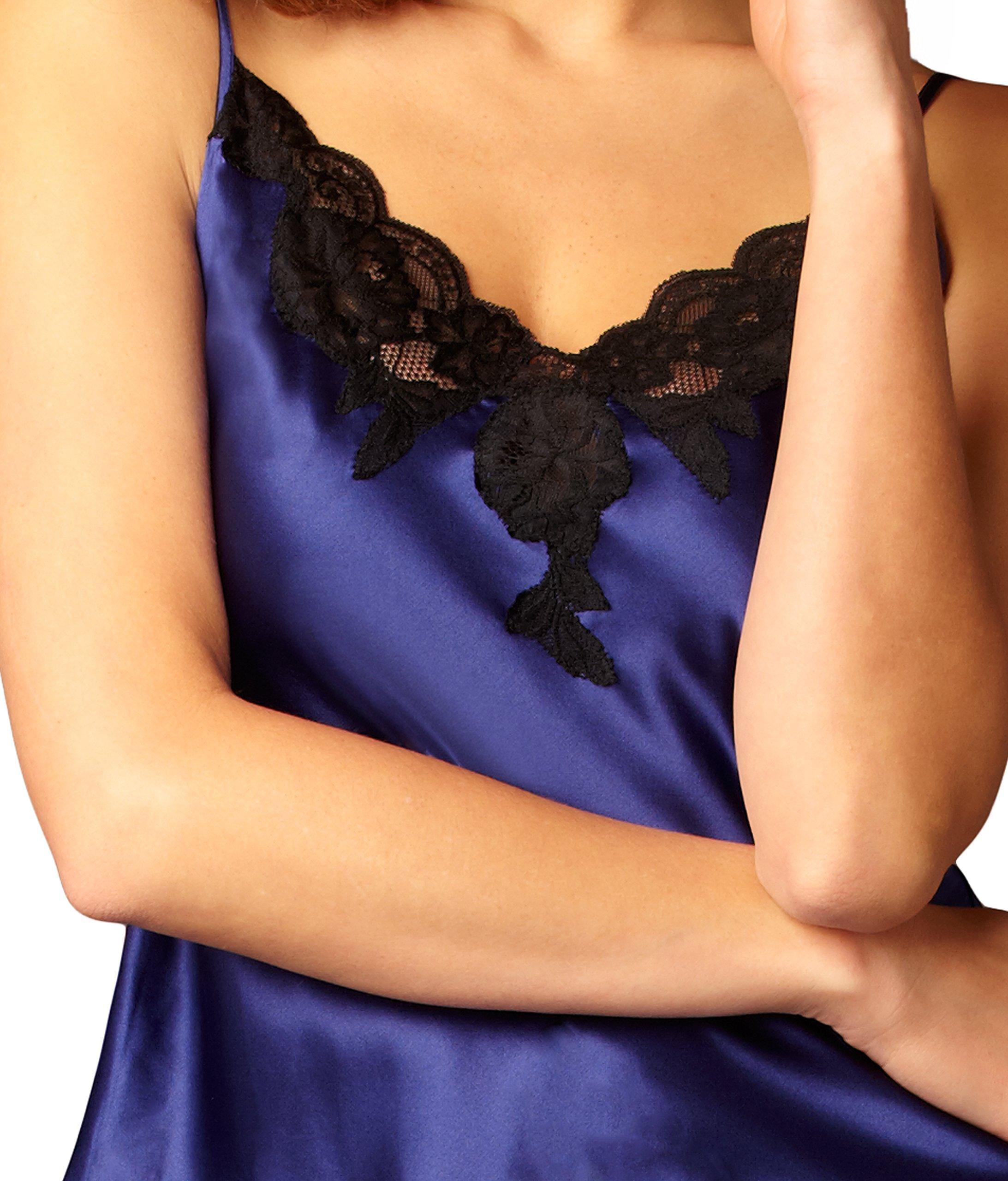 Julianna Rae Women's 100% Silk Contrast Cami Top, Lace Trim, Flattering Fit, Le Tresor Collection, Parisian, M by Julianna Rae (Image #2)
