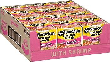 12-Pack Maruchan Instant Lunch Shrimp Flavor, 2.25 Oz