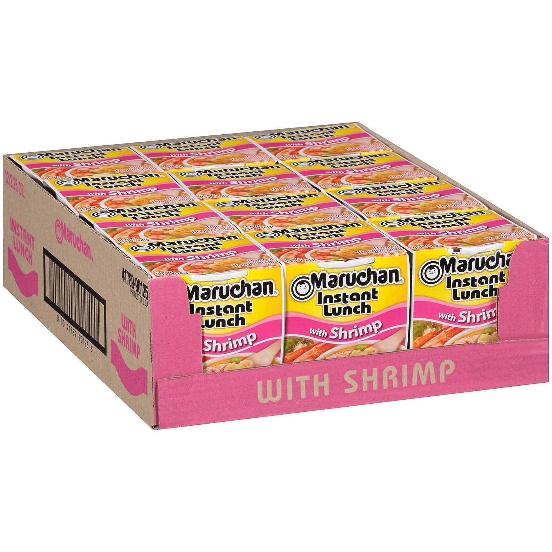 Maruchan Instant Lunch Shrimp Flavor, 2.25 Oz, Pack of 12
