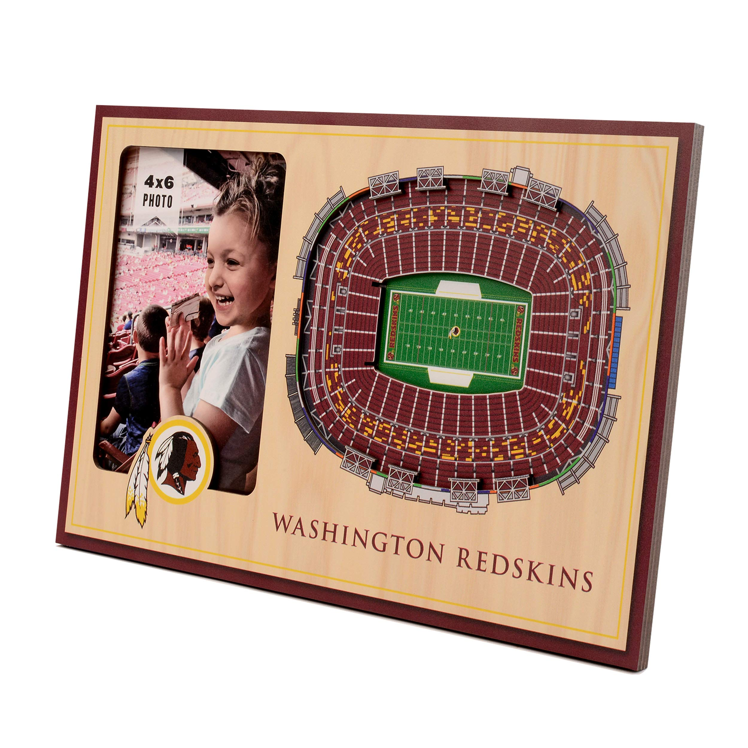 NFL Washington Redskins 3D StadiumViews Picture Frame by YouTheFan