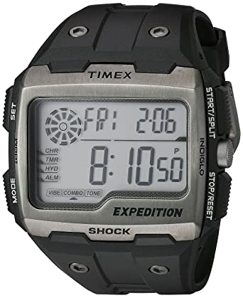 05ed36b5c98c Amazon.com  Timex Men s TW4B02500 Expedition Grid Shock Black Resin ...