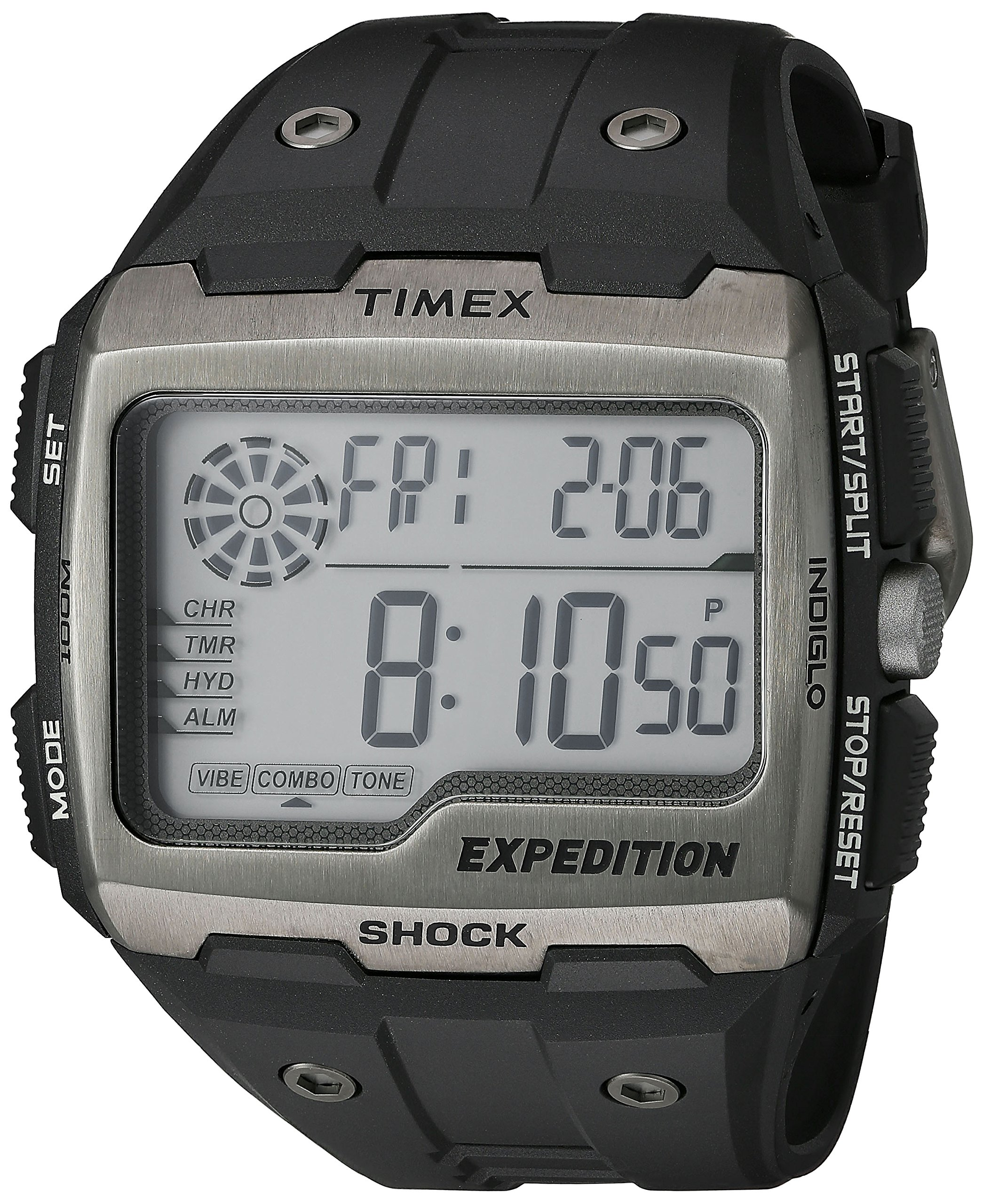 Timex Men's TW4B02500 Expedition Grid Shock Black Resin Strap Watch by Timex (Image #4)
