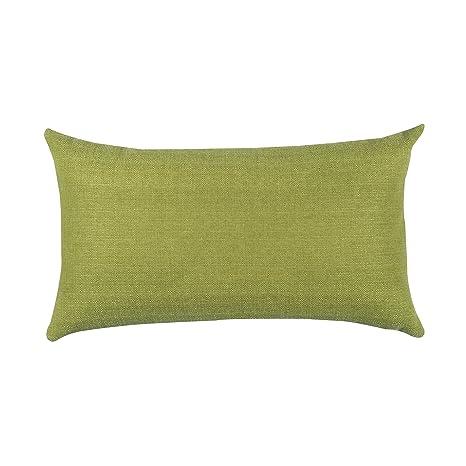 Almohada Para Sofá de Salosan, Cojín Lounge, Almohada Suave Decorativa, Relleno Hipoalergénico - 7 Colores Lisos, Medidas 40 x 70 cm (verde)