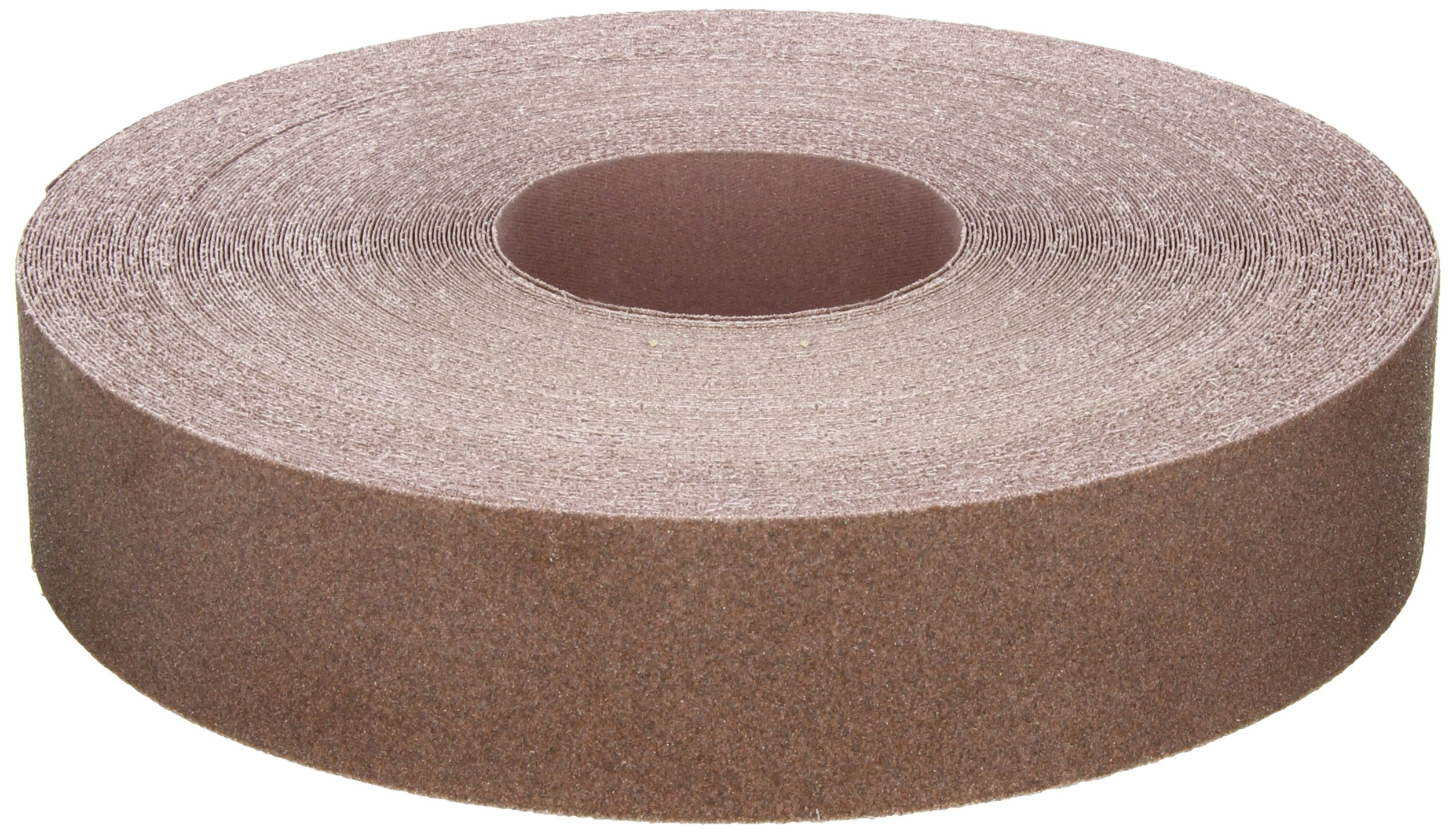 Norton K225 Metalite Abrasive Roll, Cloth Backing, Aluminum Oxide, 2'' Width x 50yd Length, Grit P80 (Pack of 5)