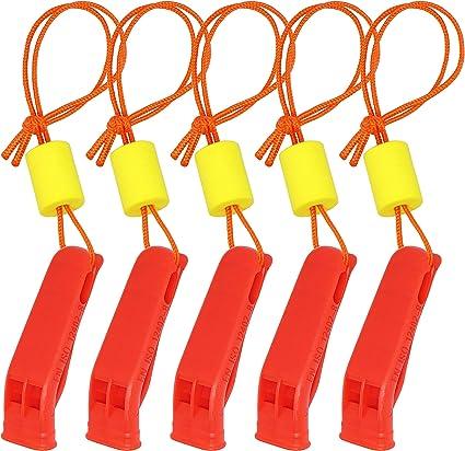 Sifflet dUrgence Sifflet de S/écurit/é de Double Fr/équence pour Survie en Plein Air Orange Vif