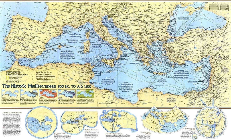 Cartina Politica Mar Mediterraneo