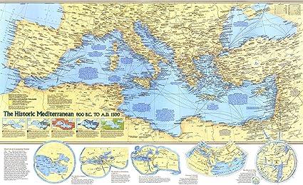 Mare Mediterraneo Cartina.Geografia Nazionale Mappa Mediterranea Storica 800 A C Ad A 1500 36 75 X 22 5 Cm Carta Arrotolata Amazon It Cancelleria E Prodotti Per Ufficio