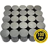 X-bet MAGNET ™ 100 pcs Ceramic Magnets - Tiny 18 mm (.709 inch) Round Disc - Rare Earth Magnets Bulk for Crafts, Science & hobbies - Perfect for Refrigerator, Whiteboard, Fridge
