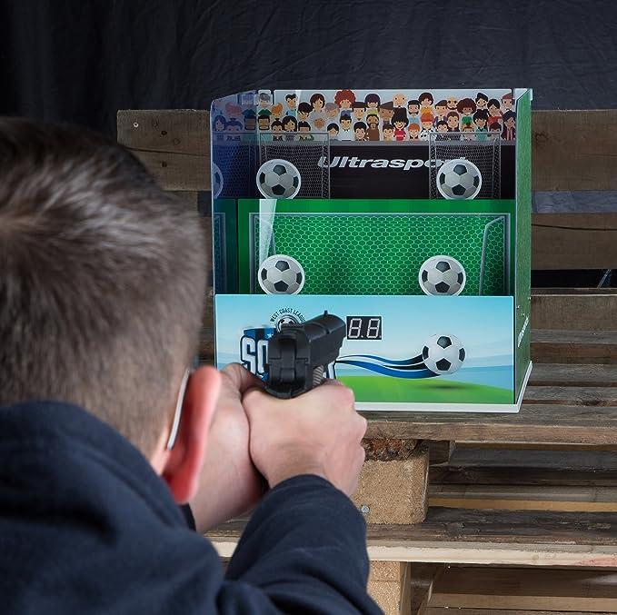 Ultrasport Puesto de tiro airsoft electrónico: puesto de tiro con 3 modos electrónicos de tiro, diana para máx. 0,5 joules, para airsoft, también apto para ...