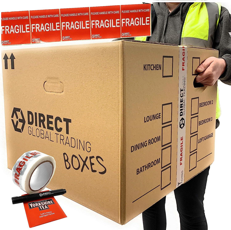 10 cajas de embalaje para mudanza extra grande y fuertes, de ...