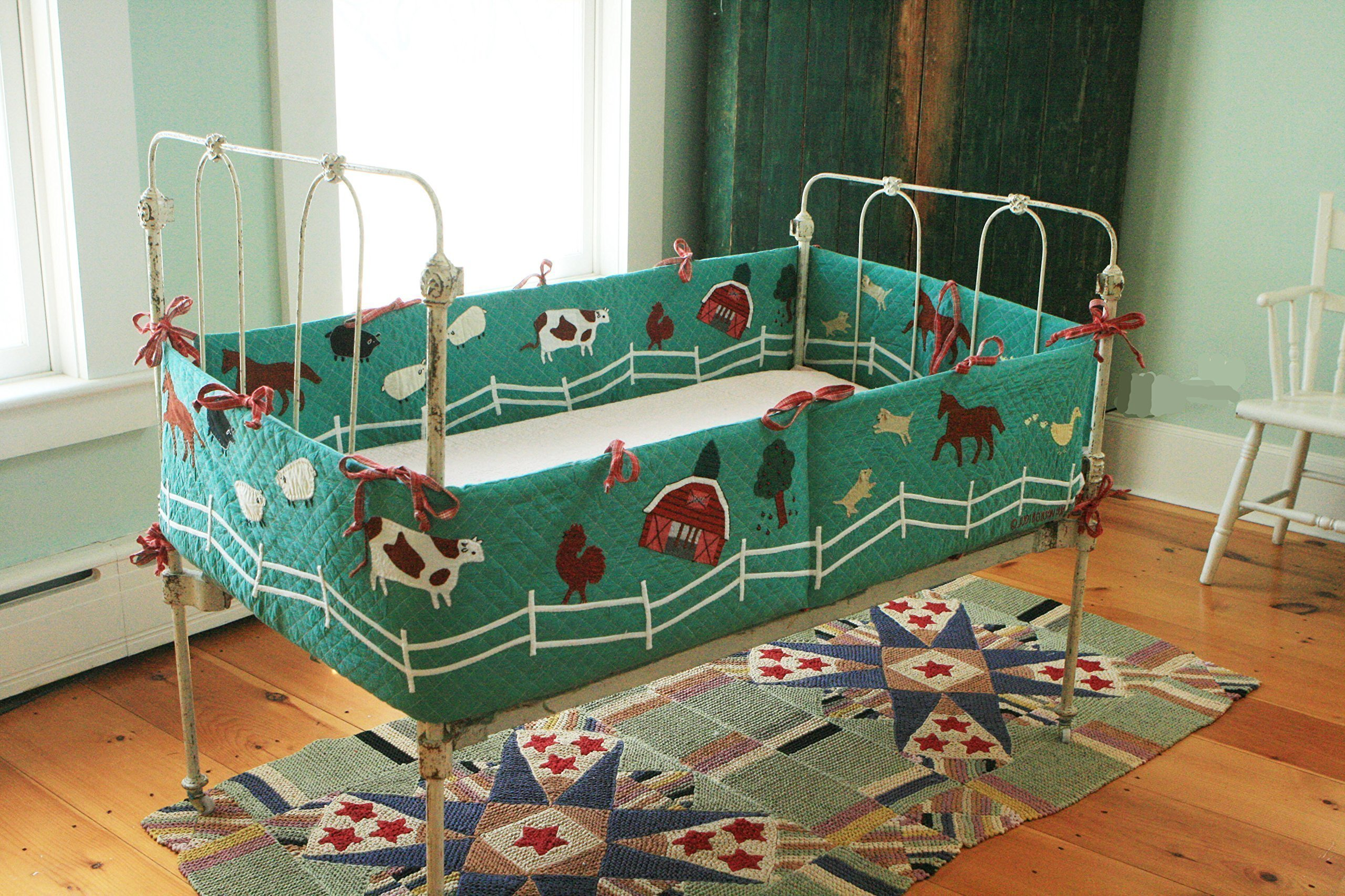 Designed by Judi Boisson.''Mc.Donald's Good Farm'', Where the Animals go Home with the Kids. Reversible. Boy or Girl. Cotton