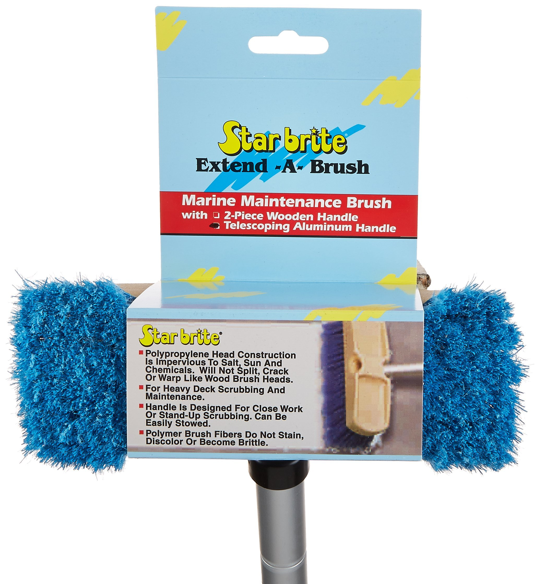 Star brite Brush & Compact Handle Combo - Extends 2'-4' - Made in USA by Star Brite (Image #3)
