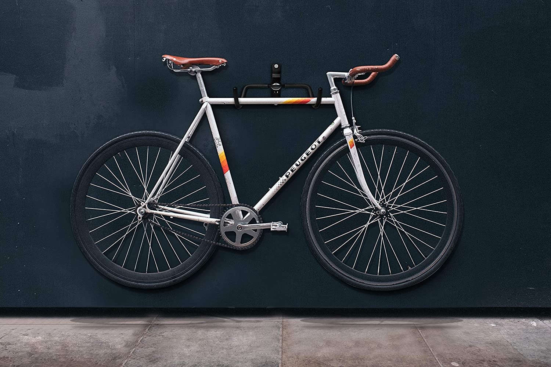 Charles Daily Wall Mount Bike Rack Foldable Bike Hanger with Frame Protection Space Saving Bike Storage Core Black