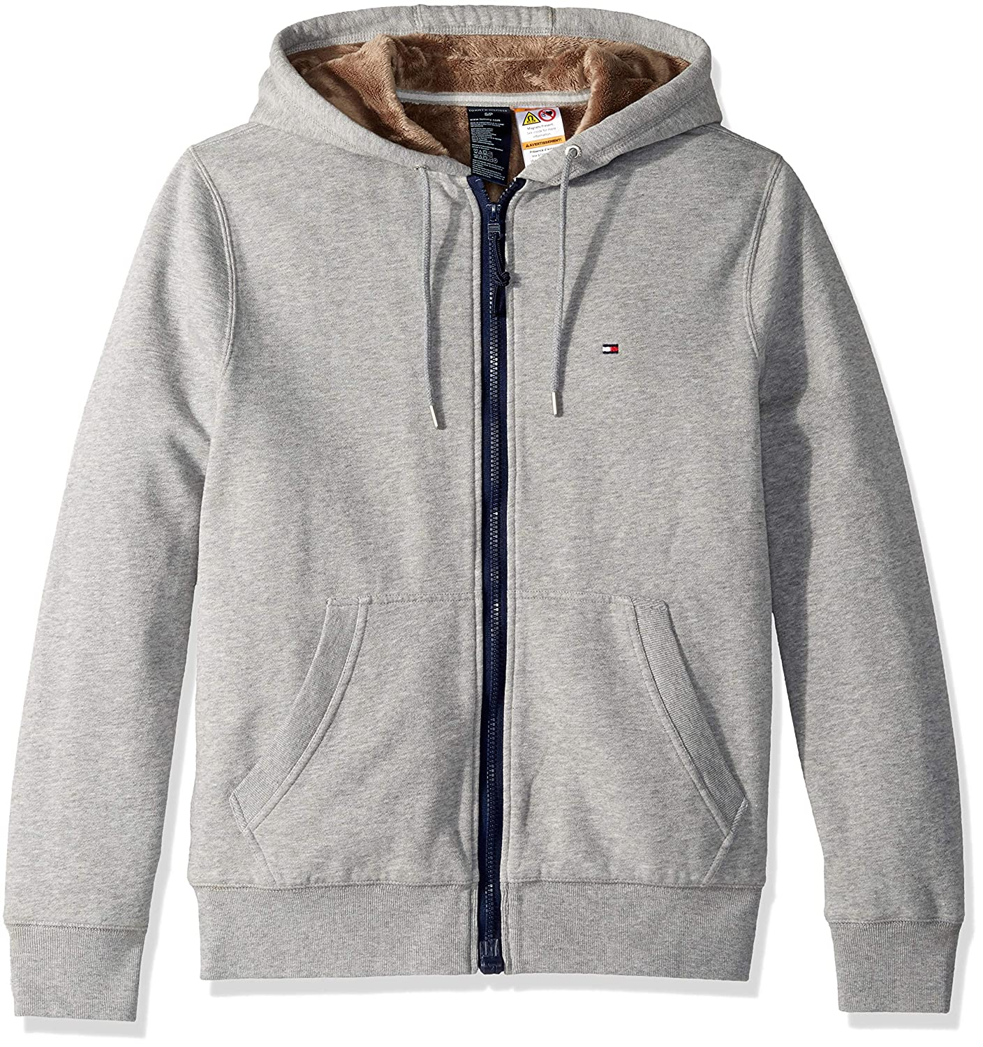 Tommy Hilfiger Men's Adaptive Hoodie with Magnetic Zipper and Fleece Lining