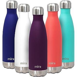 Amazon.com: MIRA 17 Oz Insulated Reusable Water Bottle ...
