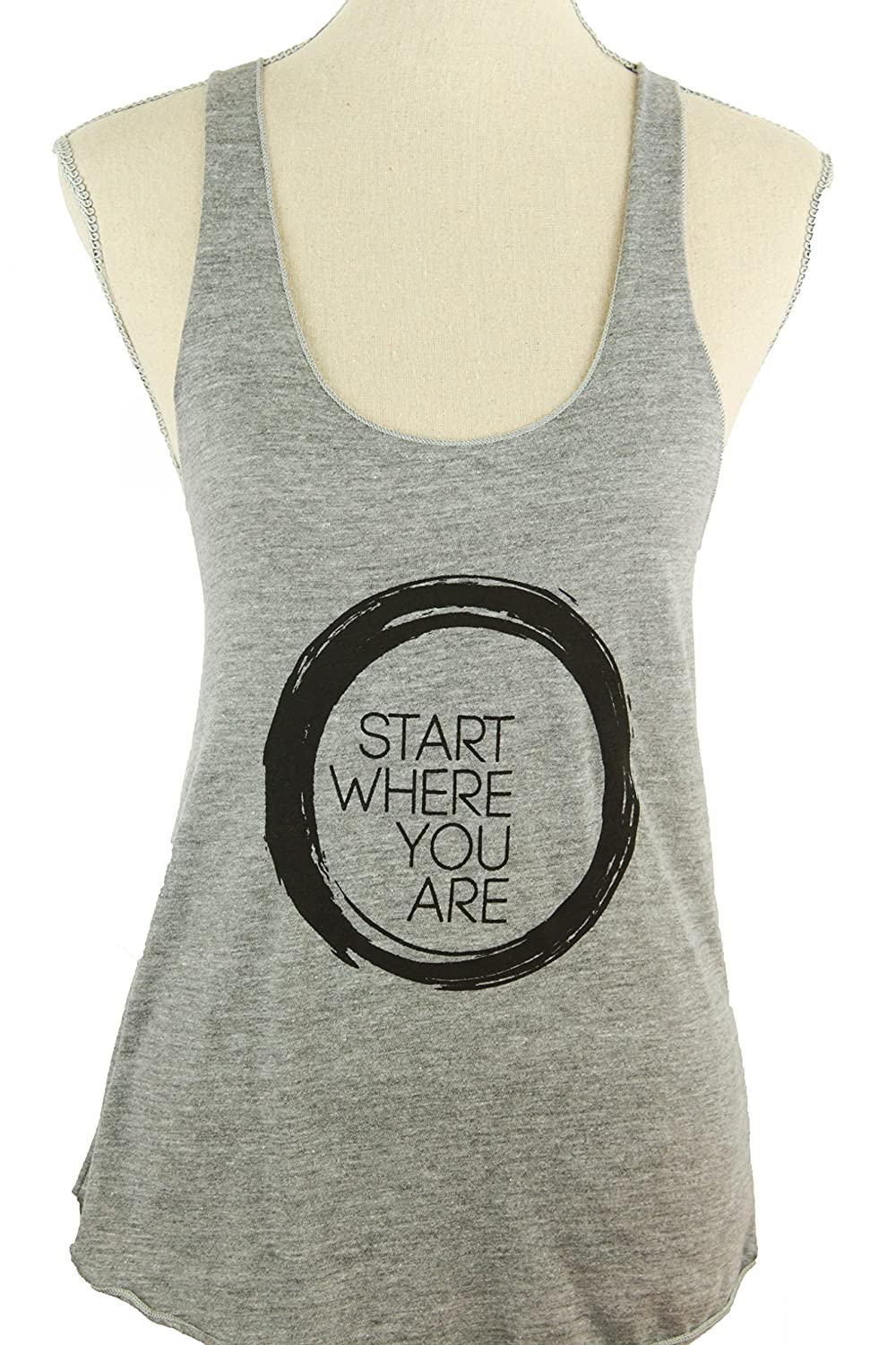 "Inner Fire ""Start Where You Are"" Yoga Racerback Tank Top"