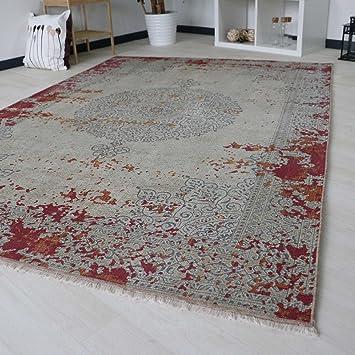 Amazon De Mynes Home Designer Teppich Dunkelrot Rutschfest Und