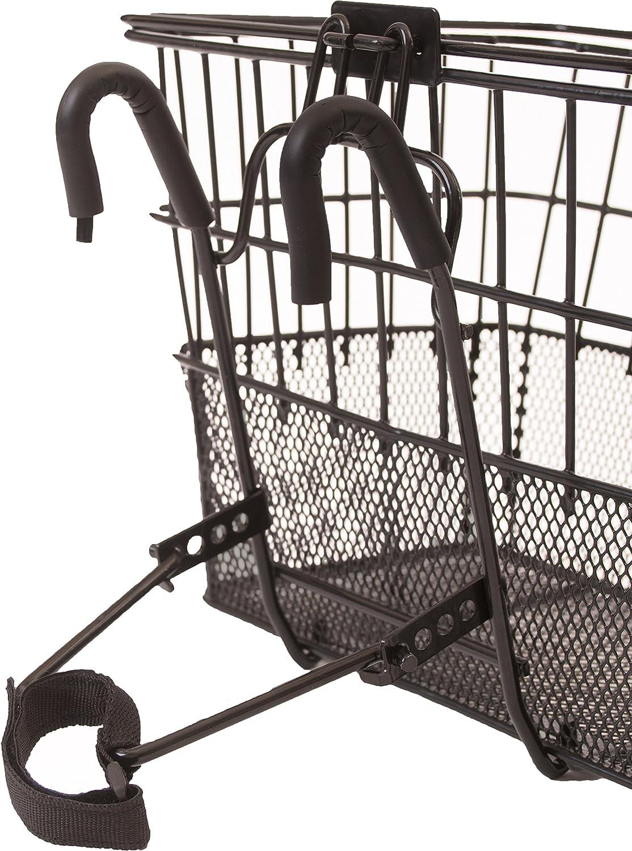 Amazon.com: Canastas desmontables de acero para bicicleta de ...