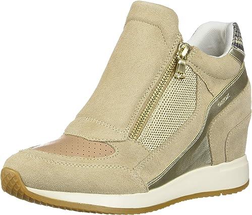 Geometría aumento artería  Amazon.com | Geox Girl's Hi-Top Trainers | Fashion Sneakers