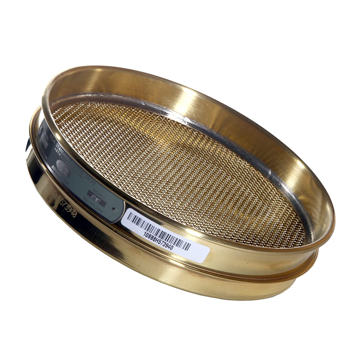 Advantech Brass Test Sieves, 8' Diameter, #30 Mesh, Full Height 8 Diameter ADV-30BS8F