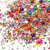 Rainbow Road Sprinkle Mix| Red Orange Yellow Green Blue Pink Purple Colorful Candy Sprinkles for Baking Edible Cake Decoratio